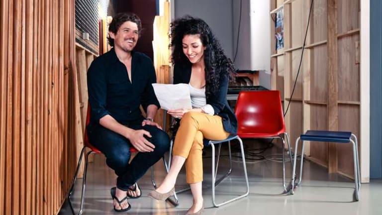 NIDA tutors Scott Johnson and Julia Ohanessian.