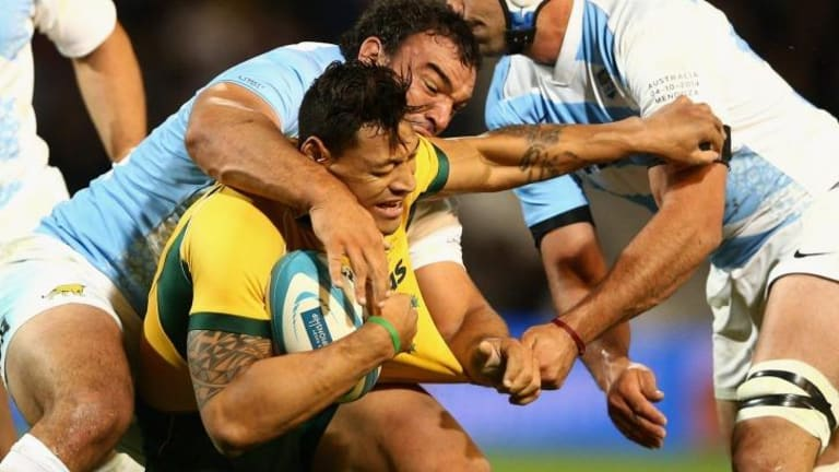 The Wallabies couldn't match the intensity of the Pumas pack.