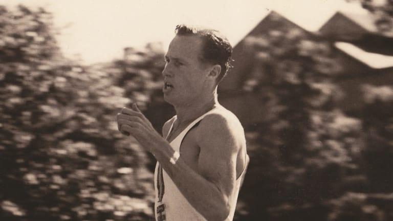 Mervyn Finlay running.