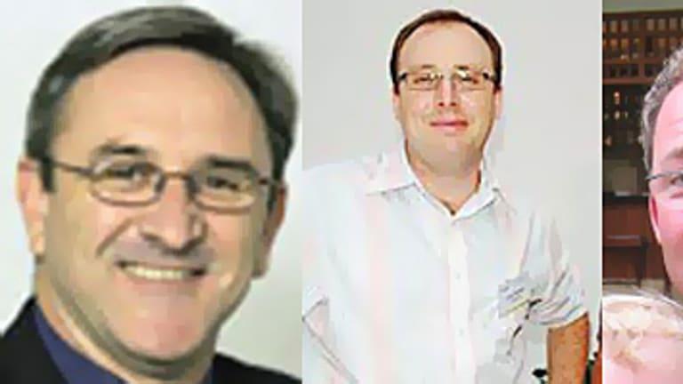The three Australians feared dead: Garth McEvoy, Craig Senger and Nathan Verity.