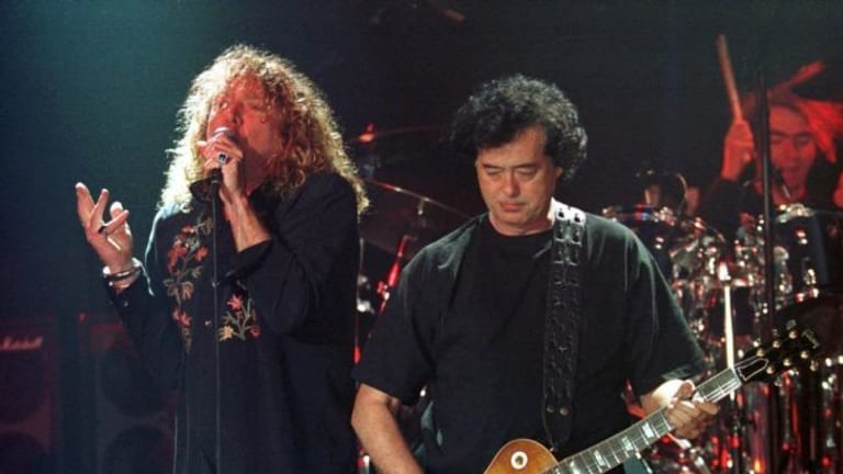 Robert Plant and Jimmy Page in 1998.