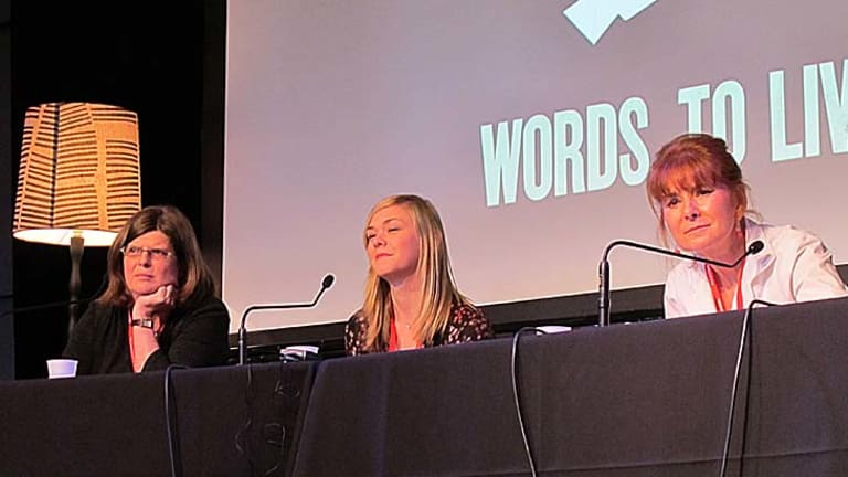 The panel ... (from L to R) Lynne Missen, Alexis Washam and Barbara Rozycki.
