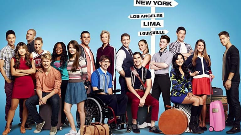 The cast of Glee: Monteith's character look set to takeover the glee club.