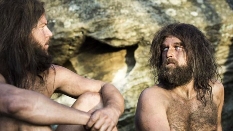 In the man cave: Christiaan Van Vuuren and Nick Boshier star in the six-episode comedy <i>Soul Mates</i>.