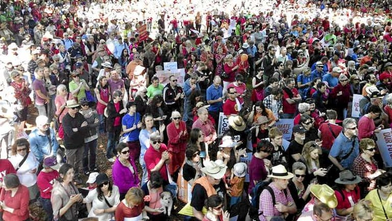 About 40,000 people attended the nation-wide rally.