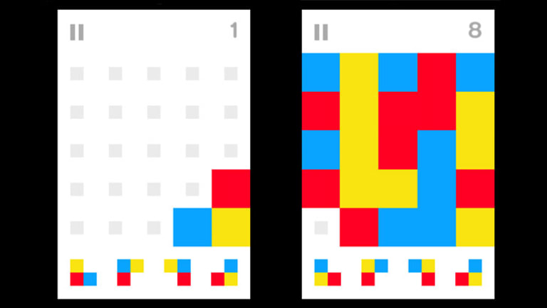 Simple rules and small coloured pieces build into complex shapes awfully quickly in Stickets.