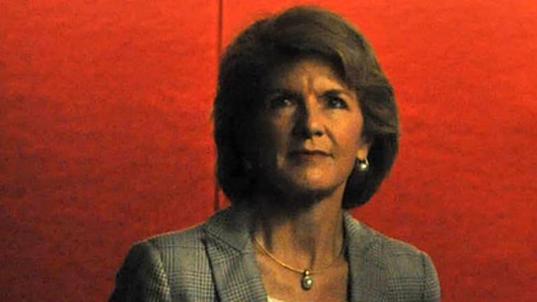 Julie Bishop ... broke a convention.