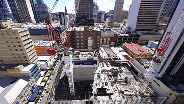 A bird's eye view of the development at 123 Albert Street.