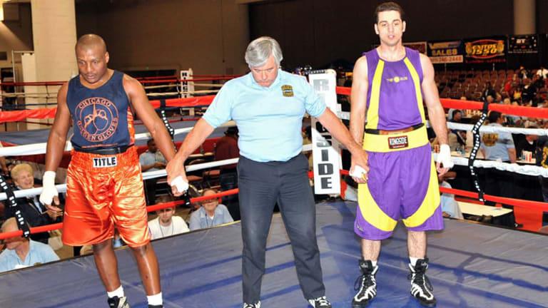 Sportsman ... Tamerlan Tsarnaev , right, competes in the 2009 Golden Gloves National Tournament of Champions in Salt Lake City, Utah.