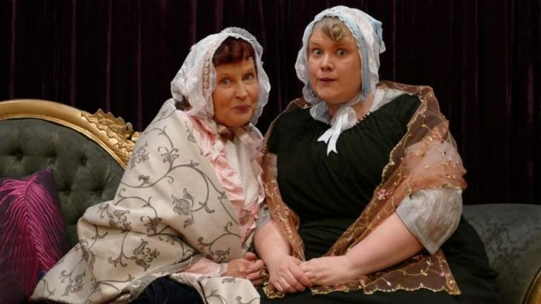 Anna Renzenbrink and Jenny Lovell as Tilly and Flora.