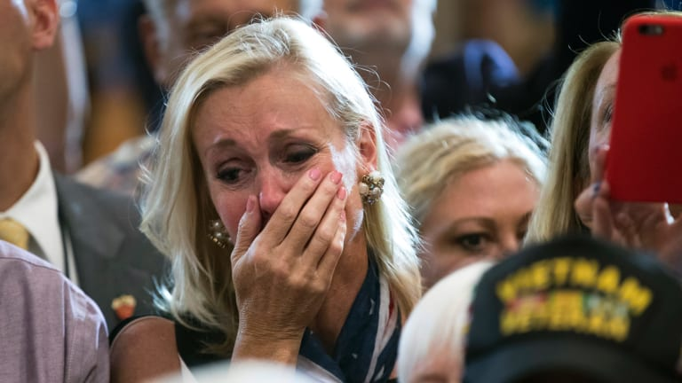 The devotion of some Trump supporters is whipped up to emotional breaking point.