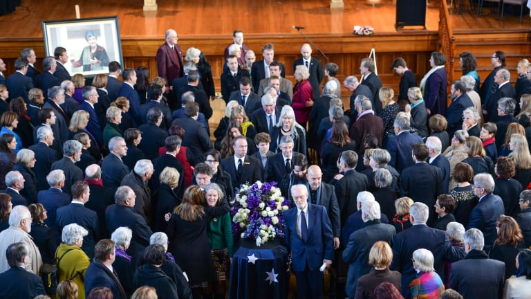 State funeral for former premier Joan Kirner at Williamstown Town Hall.