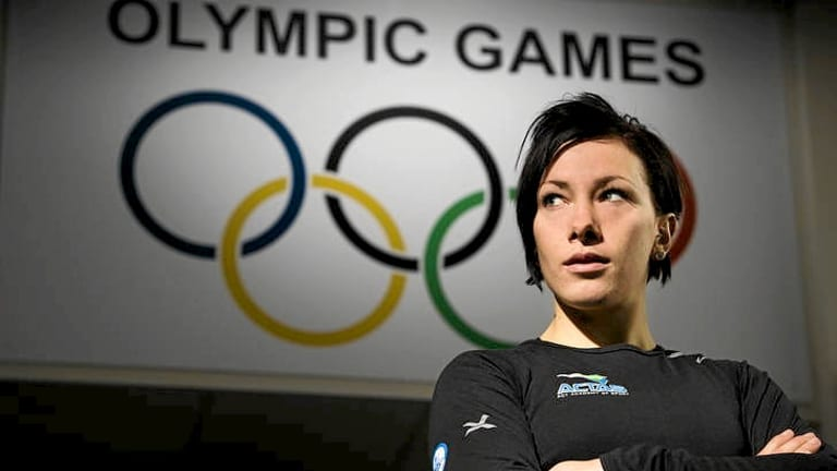 Caroline Buchanan in Canberra before leaving for the Olympics.