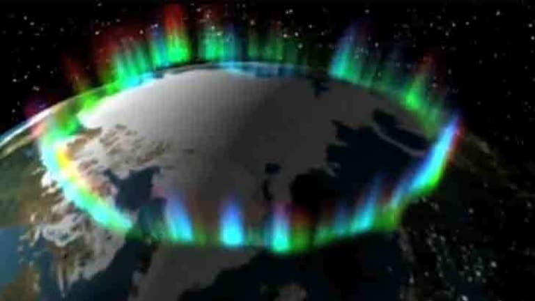 Lighting up - the Aurora Borealis.