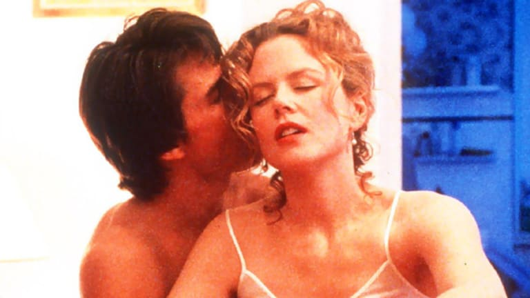 No comment ... Nicole Kidman, pictured in a scene from Eyes Wide Shut with ex-husband Tom Cruise.