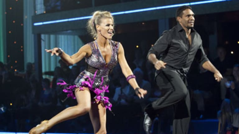 Twinkle toes  ... Wirrpanda in action on Dancing with the Stars.