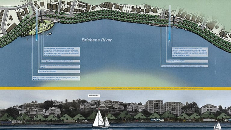 Plans for the Kingsford Smith Drive upgrade.