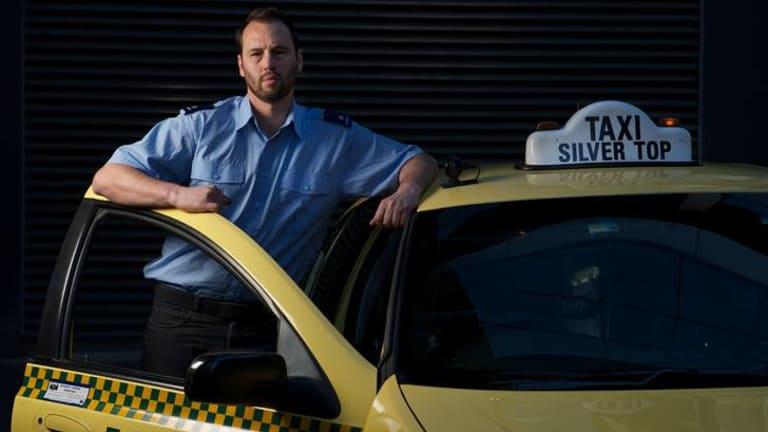 Rookie cabbie Konrad Marshall.