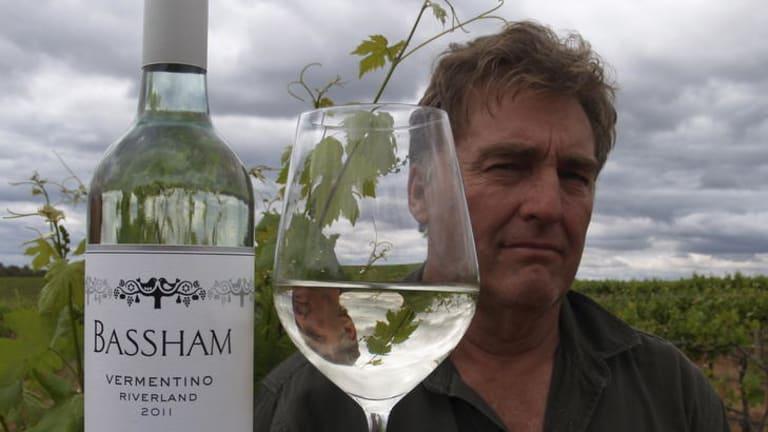 Bruce Bassham with his eponymous wine.