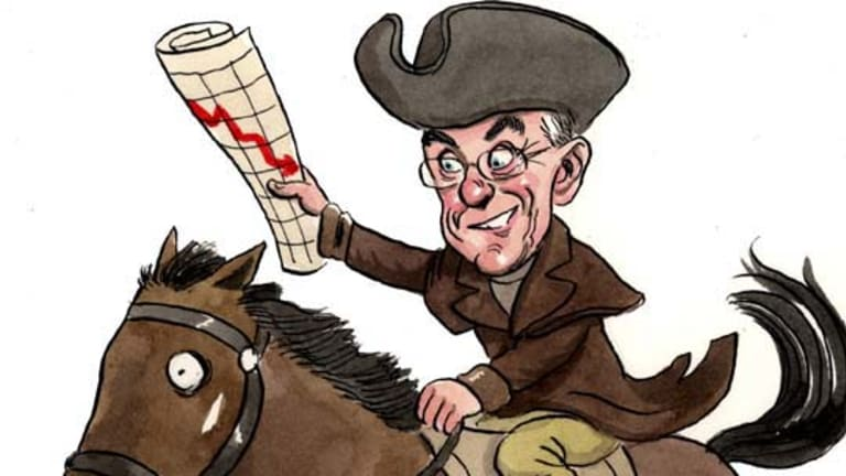 Pioneering ride ...  Steve Keen, joint winner of the Paul Revere award. <i>Illustration: John Shakespeare</i>.