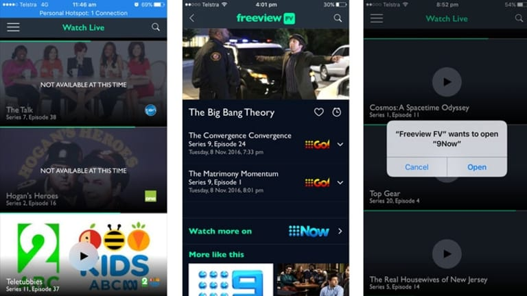 The Freeview FV app suffers from limited integration with the wider ecosystem of Australian free-to-air apps.