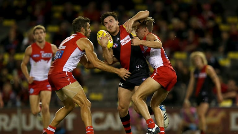 """Hibberd said he felt like he was only """"plodding along"""" near the end of his Bombers stint."""