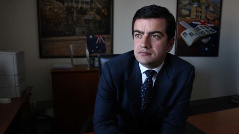 """""""I am perplexed as to why I am such a significant figure in your life"""" ... Sam Dastyari, 28, Labor's general secretary, wrote in a letter to Adrian Piccoli."""