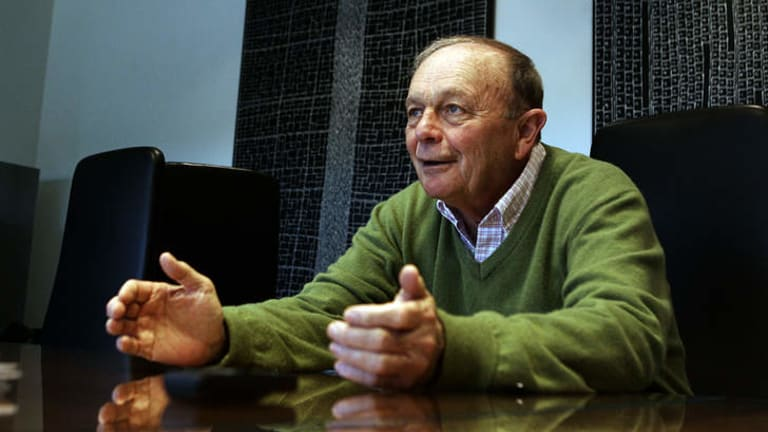 Outspoken: Gerry Harvey has been a vocal opponent of online shopping from overseas companies.
