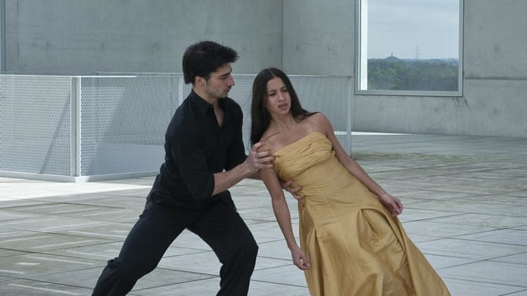 Lean on me ... a scene from dance documentary <i>Pina</i>.