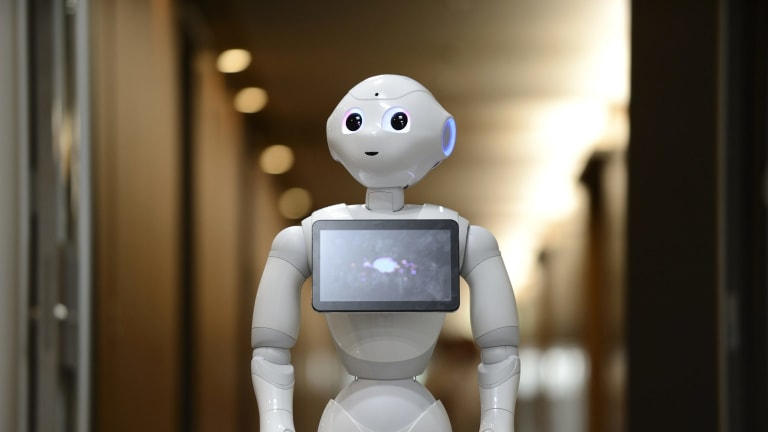 """Robots are expected to become a more regular feature of life. At a """"robot restaurant"""", your can order via an app."""