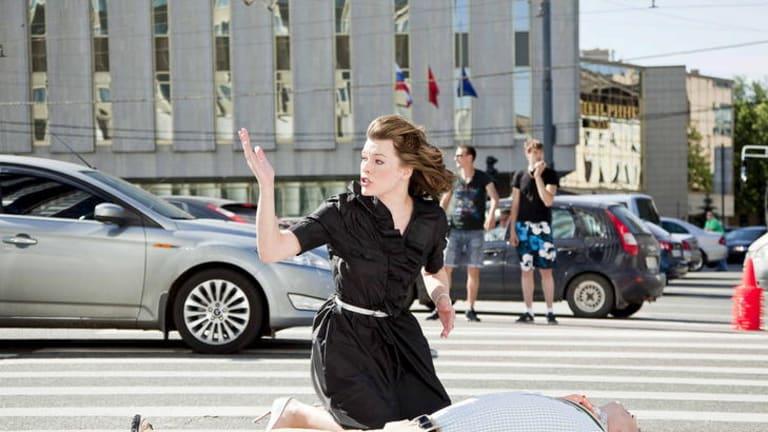 Milla Jovovic in romantic comedy <i>Lucky Trouble</i>.