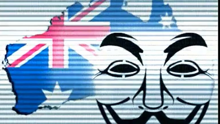 An image Anonymous Australia uses in a YouTube video explaining why it did the hack.