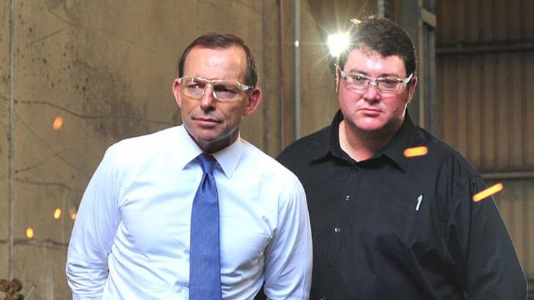 MP George Christensen with Prime Minister Tony Abbott.