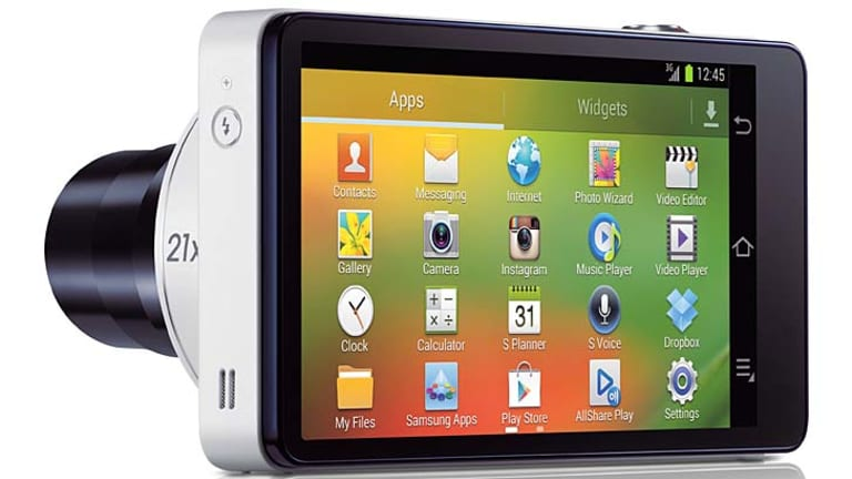 Snappy: Various apps are available on Samsung's Galaxy Camera.