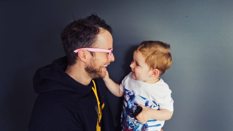 Zoe Foster Blake Instagrams husband Hamish Blake and son Sonny.