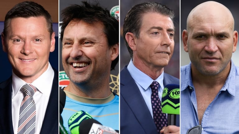 Names mentioned as possible replacements for Slater include (from left) Matt Burke, Laurie Daley, Greg Alexander and Gorden Tallis.