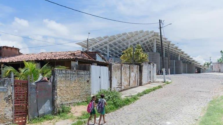Herzog & de Meuron-designed stadium the Areno do Morro sport and cultural centre in the notorious Mae Luiza favela in the Brazilian city of Natal.