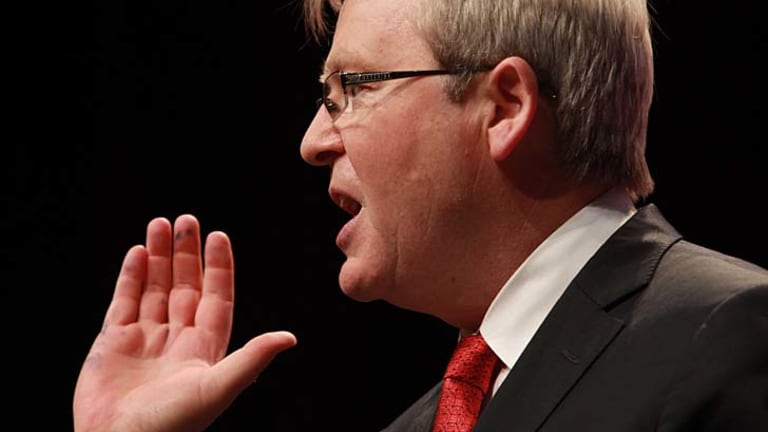Kevin Rudd ... had his say on the mining tax.