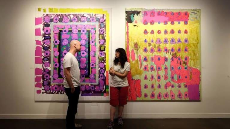 Steven Asquith and Rebecca Scibilia with their collaboration.
