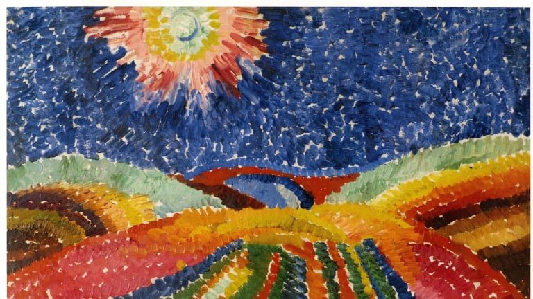 Wilhelm Morgner The path.  Kunst Museum. Bochem, Germany, 1912 in The Flowers of War.