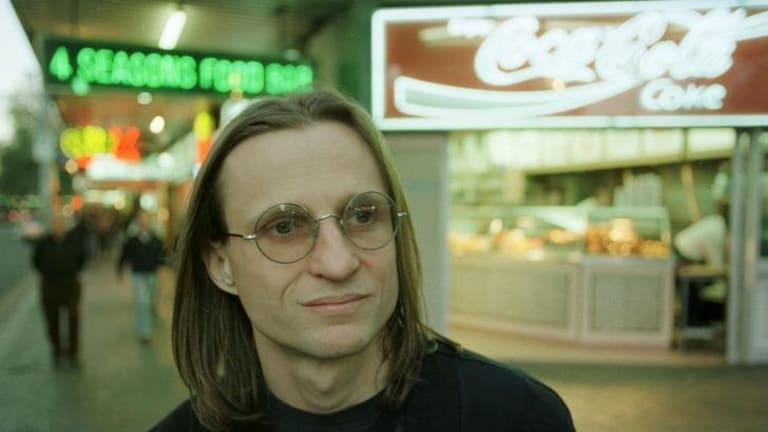 McKenzie Wark, media and cultural commentator, in Sydney's King Cross in 1999.