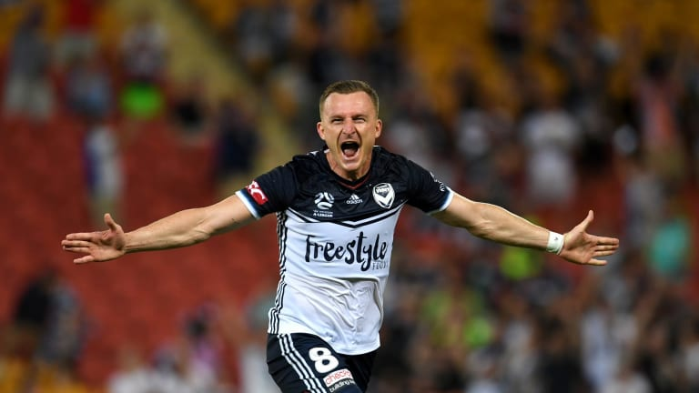 Victory's star striker Besart Berisha will spend another year at the club.