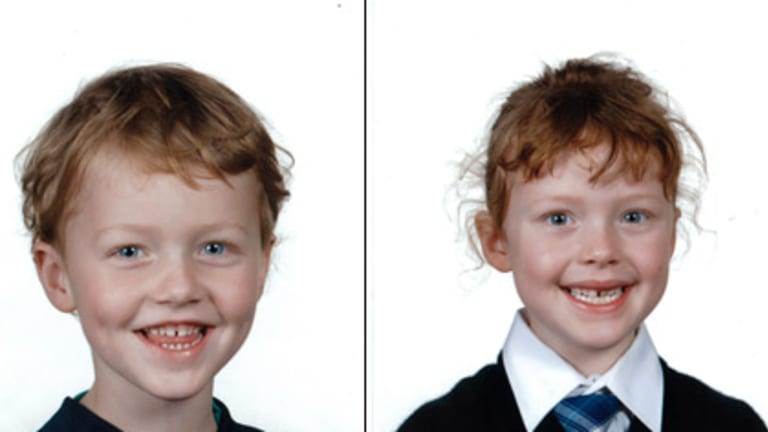 Five-year-old Alexander Richard Dillon and six-year-old Charlotte Rose Dillon.
