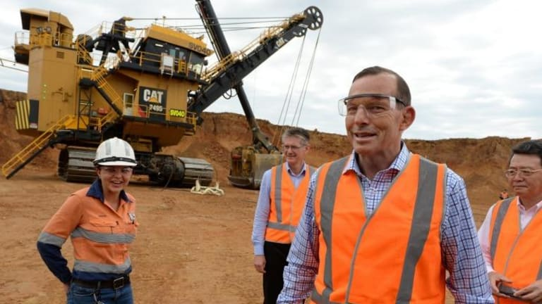 """Coal is essential for the prosperity of Australia"": PM Tony Abbott."