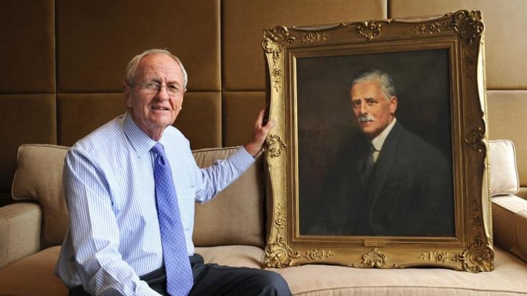 Dynasty founder: Marshall Baillieu with a portrait of 'WL'.