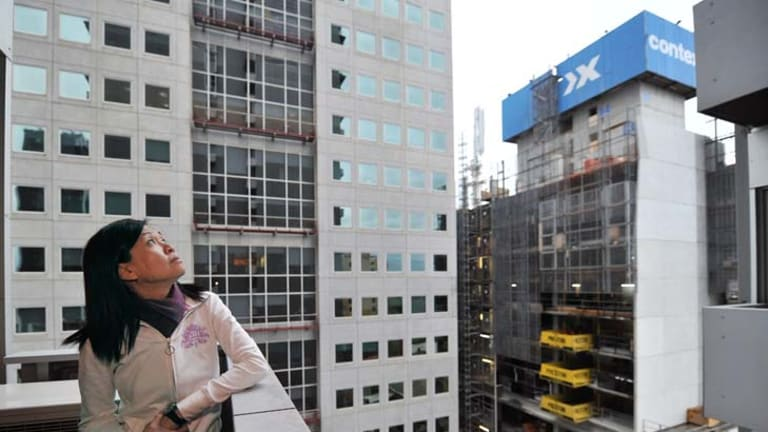 City resident Michelle Ong is worried about losing the view from her balcony.