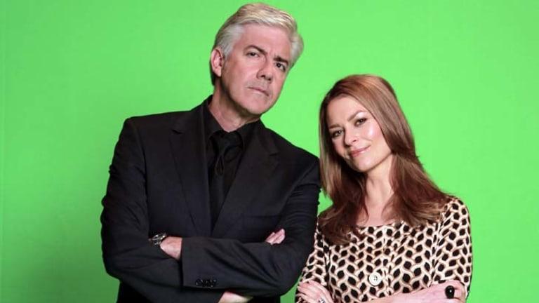 Shaun Micallef and Kat Stewart star in <em>Mr & Mrs Murder</em>.