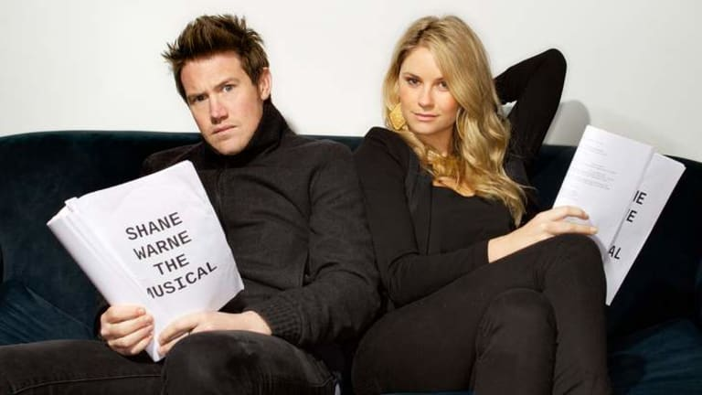 Shane and Liz: Eddie Perfect and Christie Whelan-Browne.