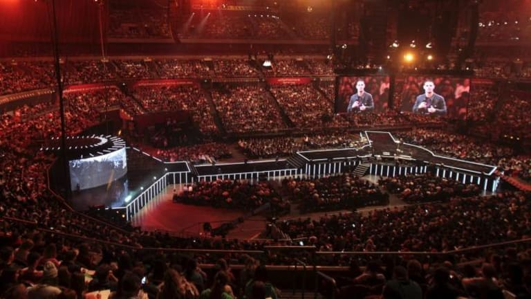 A Hillsong Church conference earlier this year: the popular Pentecostal church will come under royal commission scrutiny.