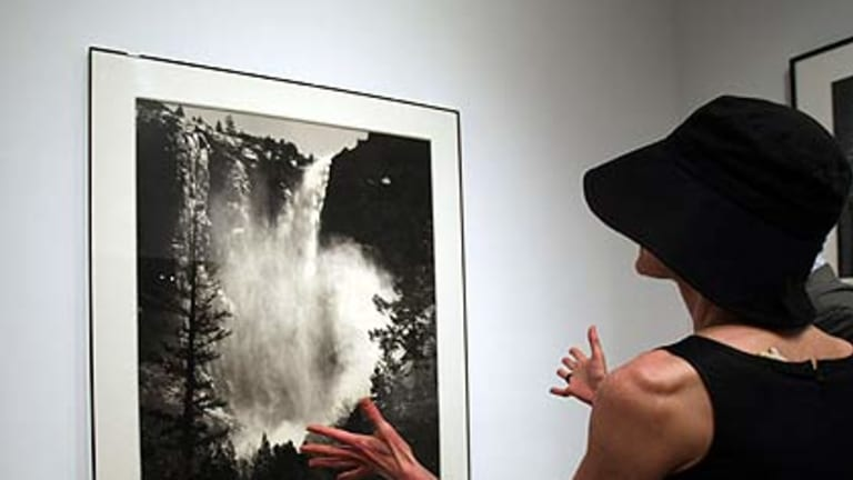 One of the Ansel Adams images on display at Christie's.